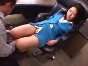 Sexy office lady, Yuriko Takaoka, gets wild and enjoys a hot fuck