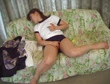 Sweet Japanese schoolgirl, Hikaru Hinata learns hot to please herself with hand picture 12