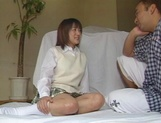 Alluring Japanese schoolgirl is amazing when she fucks picture 4