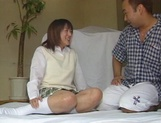 Alluring Japanese schoolgirl is amazing when she fucks picture 8