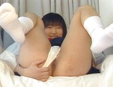 Erotic Asian schoolgirl is into hard fucking and blowjobs picture 11