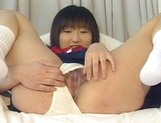 Erotic Asian schoolgirl is into hard fucking and blowjobs picture 15
