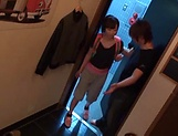 Serious POV amateur video with a slim Asian beauty