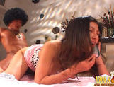 Ran Asakawa doing it doggy style and sucking cock while talking on the phoneasian ass, japanese pussy, young asian}