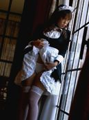 Rei Asian Slutty Maid Likes Serving It Up Hot And Fast
