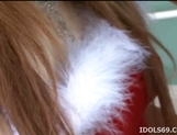 Ren Aizawa Costumed Asian babe In Santa Suit Gets Cum picture 10