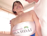 Big tit race queen Koyomi Yukihira makes her guy cum without fucking picture 1