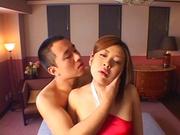 Busty hottie Miho Ichijo screams with a big cock inside