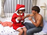 Sakura Sakurada Costume Santa Cruz Asian babe Is A Prize All By Herself