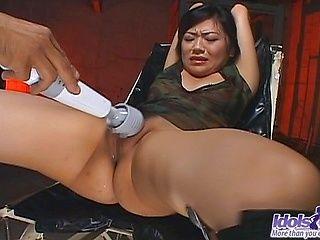 Saya Misaki Beautiful Asian Model Enjoys Her Vibrating Buddy