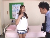 Curious Japanese college teen Sarii Aisahara experiences cock riding picture 2