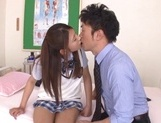 Curious Japanese college teen Sarii Aisahara experiences cock riding picture 9