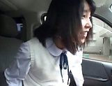 Picked up Japanese teen Miu Mizuno, fucked on the back seat picture 15
