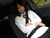 Picked up Japanese teen Miu Mizuno, fucked on the back seat