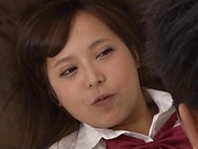 Lovable Yuuki Seri plays with a dick in her cunt