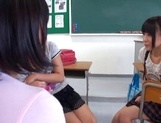 Nude Asian schoolgirls Yuri Shinomiya and her friends enjoys hard dicks picture 6