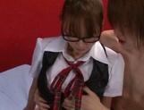 Japanese AV model is a schoolgirl who loves feeling cock in her cherry