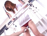 Mao Andoh enjoys getting toyed well in the gym picture 15