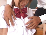 Shameless teen girl Miyu Hoshino rides cock of her horny classmate picture 13