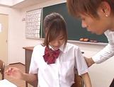 Shameless teen girl Miyu Hoshino rides cock of her horny classmate picture 14