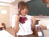 Shameless teen girl Miyu Hoshino rides cock of her horny classmate picture 15