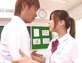 Shameless teen girl Miyu Hoshino rides cock of her horny classmate