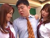 Horny Matsuno banged hard in gang bang picture 13
