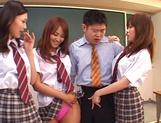 Horny Matsuno banged hard in gang bang picture 14