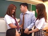 Horny Matsuno banged hard in gang bang picture 15