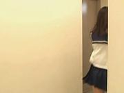 Hot Asian schoolgirl shows off in hot video