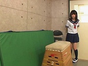 Hot Asian schoolgirl shows off in hot video