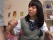 Cute Tokyo schoolgirl has the time of her life