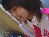 Amateur sex video with schoolgirl, Aika Hoshizaki picture 12