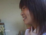 Amateur sex video with schoolgirl, Aika Hoshizaki picture 13