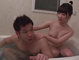 Three hot teens play with one dick in the bathtub