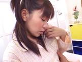 Sweet Japanese schoolgirl enjoys sex in various scenes picture 12