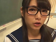 Seductive schoolgirl banged by horny teacher