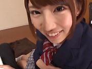 Naughty Asian schoolgirl in stunning gangbang action