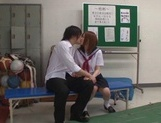 Candy ass schoolgirls enjoy oral sex and give cock riding