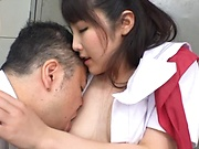 Cute Asian schoolgirl loves being nailed hardcore