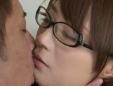 Insolent Japanese schoolgirl tries cock in her vag picture 12
