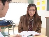 Red headed Japanese chick in glasses Sarii Aisahara enjoys hardcore sex picture 4