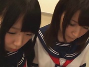 Huge cock for sweet schoolgirls to share