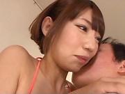 Japanese AV Model is a nice teen in a wild sex orgy