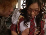 Alluring Tokyo schoolgirl spreads legs for fingering and fucking picture 9
