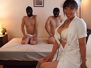 Sankihon Nozomi spreads her legs for a wild bonk