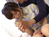 Itou Hatenatsu nipples toyed with before a blowie picture 9