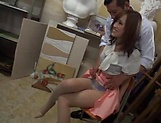 Hardcore threesome fun for lovely beauty Kirishima Rino picture 8