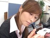 Savory Asian doll Akari Asahina giving head picture 13