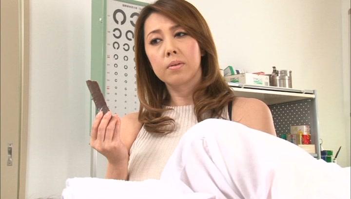 Crazy Japanese mature teacher Yumi Kazama gets her big tits fucked picture 11